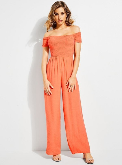 Enterizo Guess Off Shldr Lily Jumpsuit G575 Coral