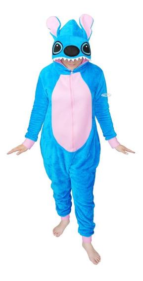 Mameluco Stitch Pijama Cosplay Peluche Traje Disney Azul