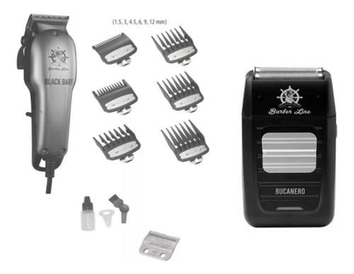 Maquina Corta Pelo Pro Eurostil Black Bart Cable + Bucanero