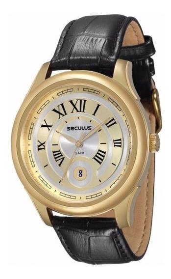 Relógio Seculus Nr. Romanos 2 Anos Garantia 23429gpsvdc2
