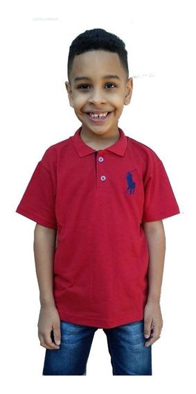 Kit 5 Polo Infantil Camisa Masculina Camiseta Menino