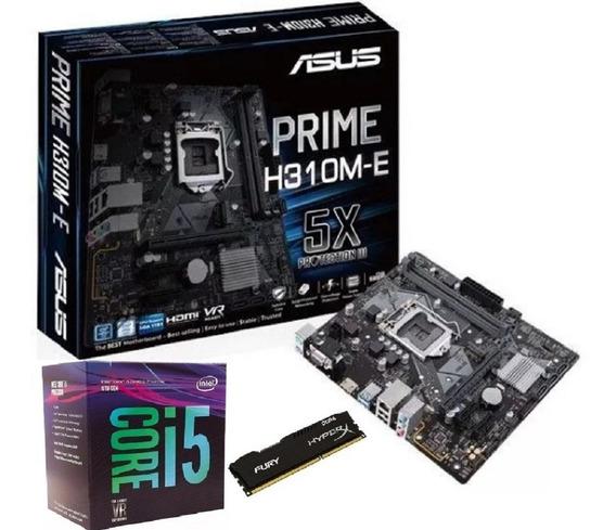 Kit Intel 8ª Geração I5 8400 + Placa H310m-e + 8gb 2400 Mhz
