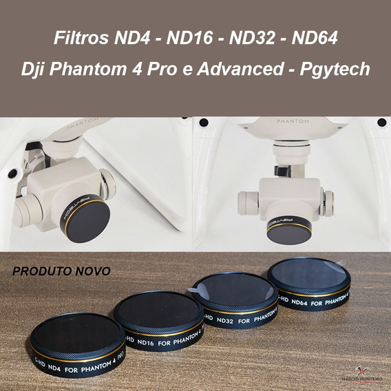 Filtros Nd4 - Nd16 - Nd32 - Nd64 Dji Phantom 4 Pro E Advance
