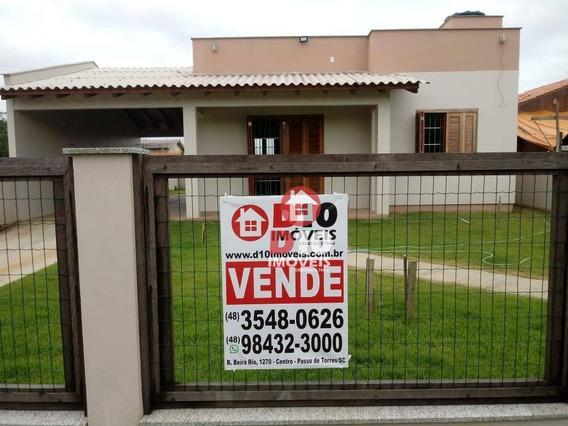 Casa Com 2 Dormitórios À Venda, 100 M² Por R$ 239.000,00 - Praia Azul - Passo De Torres/sc - Ca1525