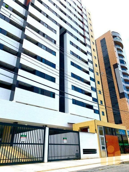 Apartamento Com 3 Dormitórios À Venda, 66 M² Por R$ 300.000 - Gruta De Lourdes - Maceió/al - Ap0548