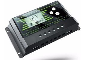 Controlador De Carga 10a Solar 12/24v Pwm Regulador Pron Ent
