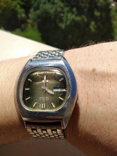 Magnífico Relógio Seiko 7009-5070 Automático Verde Metálico