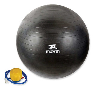 Bola De Pilates 85cm Blg-800 - Preto - Muvin