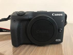 Canon Eos M3 Mirrorless Corpo Poucos Clicks 2 Baterias