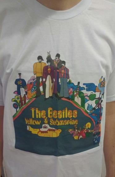 Camiseta Álbum Lp Dos Beatles - Yellow Submarine - M