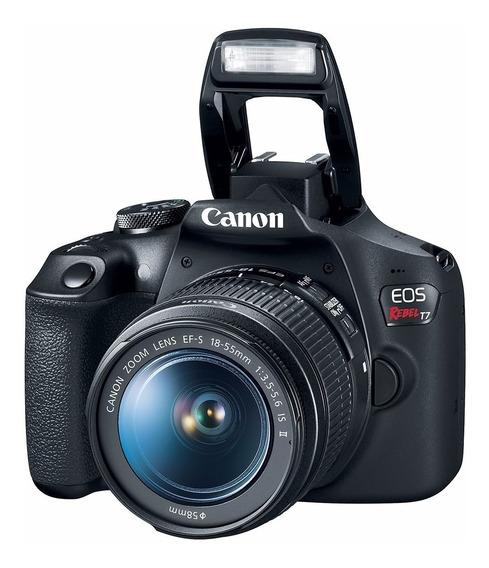 Câmera Canon T7 +18-55 Is Ii Nova C/ Nf-e 1 Ano Garant Canon