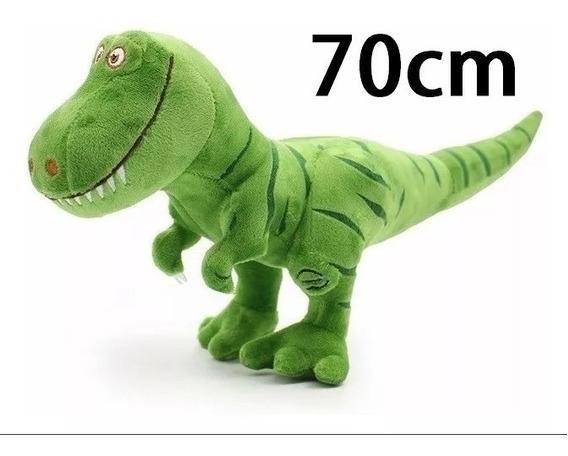 Dinossauro Verde Pelúcia Jurassic World Tiranossauro 70 Cm