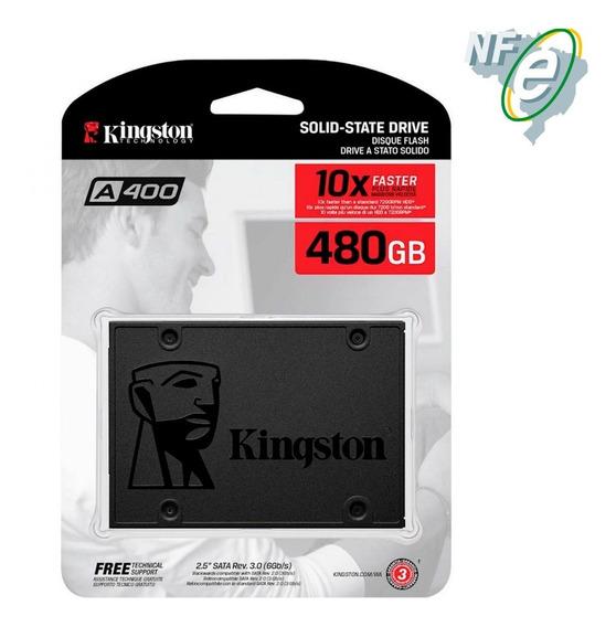 Hd Ssd Kingston 480gb 6gb/s A400 Pc Notebook Macbook + Nfe