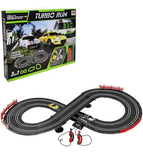 Auto Pista Turbo Run 3 Em 1 Circuito Em Oito Clássico