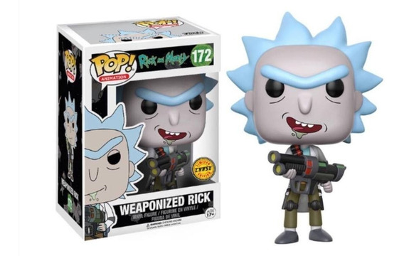 Rick And Morty Boneco Pop Funko Weaponized Rick 172 ** Chase