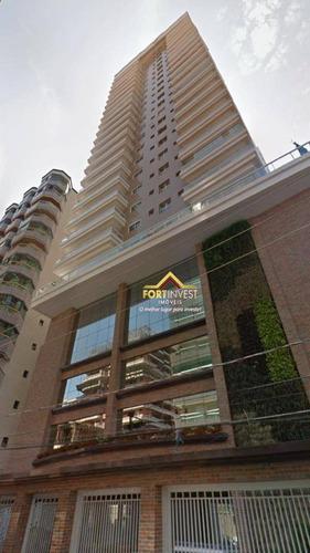 Apartamento Com 3 Dormitórios À Venda, 148 M² Por R$ 1.200.000 - Canto Do Forte - Praia Grande/sp - Ap1123