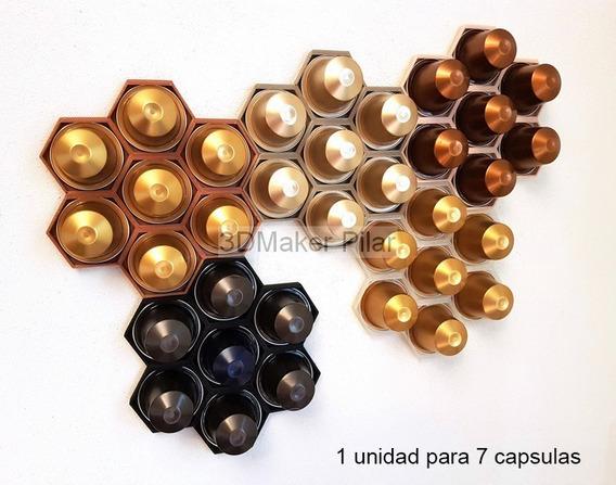 Soporte Organizador De Pared Porta Capsulas Nespresso Con Adhesivo - Varios Colores - Excelente Calidad 3d - Promo!!!