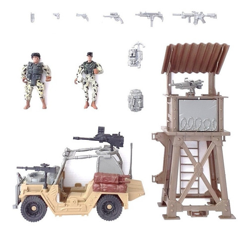 Set De Soldaditos De Juguete Para Niños Juego Guerra Batalla