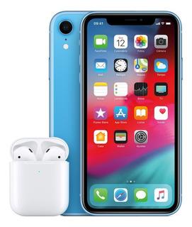 Combo: iPhone Xr 64gb + AirPods C/ Estojo De Recarga Sem Fio