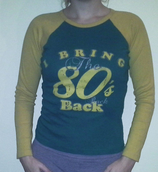 Camiseta Bring The 80s Back, Retro Estilo Trucker Talle S