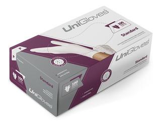 Luva Látex Branca Standard Unigloves C/ Pó Caixa C/ 100