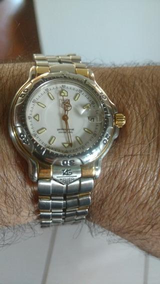 Relógio Tag Heurer Aço E Ouro 18k Profissional Série 6000