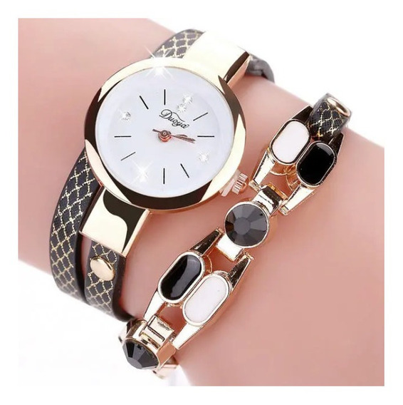 Relógio Duoya Moda Feminina Pulseira De Couro