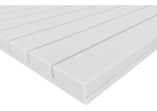 Imagen 1 de 6 de Panel Acústico Premium Blanco Ignifugo - Line 35mm