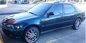 Honda Civic Ex Auto 95/96 - Motor Aspirado - Verde