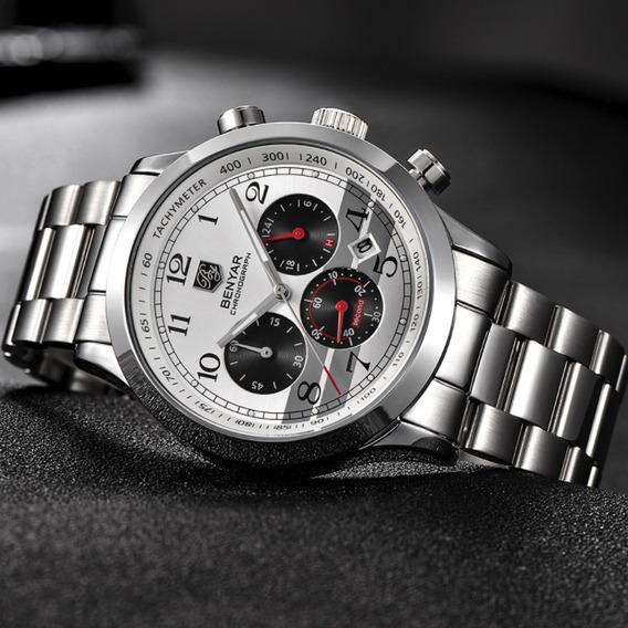 Relógio Masculino Social Original Executivo Prata Benyar !!!
