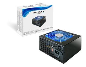 Fonte Atx Mymax 600w 24 Pinos 2 Sata Com Cabo High Power