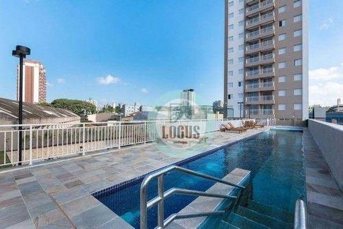 Imagem 1 de 30 de Apartamento Com 2 Dormitórios Sendo 1 Suíte À Venda, 54 M² Por R$ 350.000 - Condomínio Mais Casa Branca - Casa Branca - Santo André/sp - Ap1882