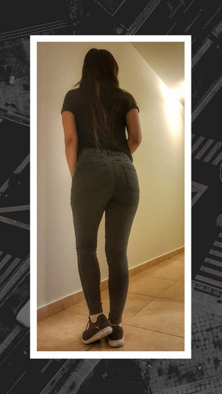 Pantalon De Jean Mujer Negro
