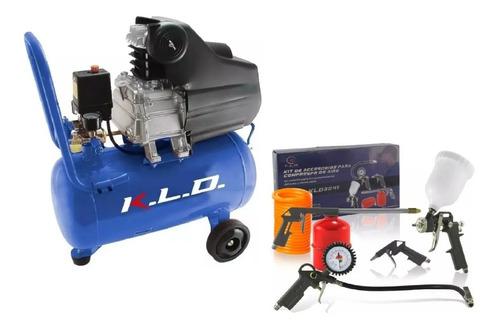 Compresor De Aire 50 Litros 2,5hp Kld Con Kit De Aire Acc