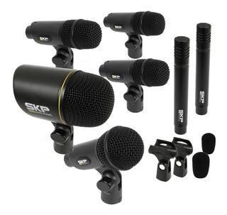 Kit Set Pack Microfonos Bateria Skp Dms 7 Mics Musica Pilar