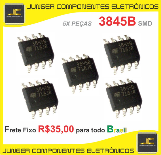 3845b - Uc3845b - Uc3845 - Uc3845bdr2g Sop-8 - 5 Peças Lote