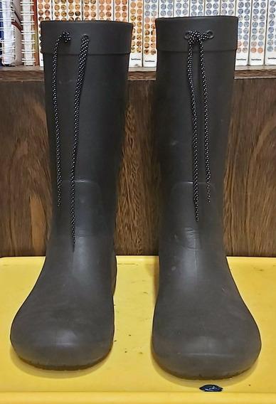 Botas De Lluvia Crocs Caña Alta Negras