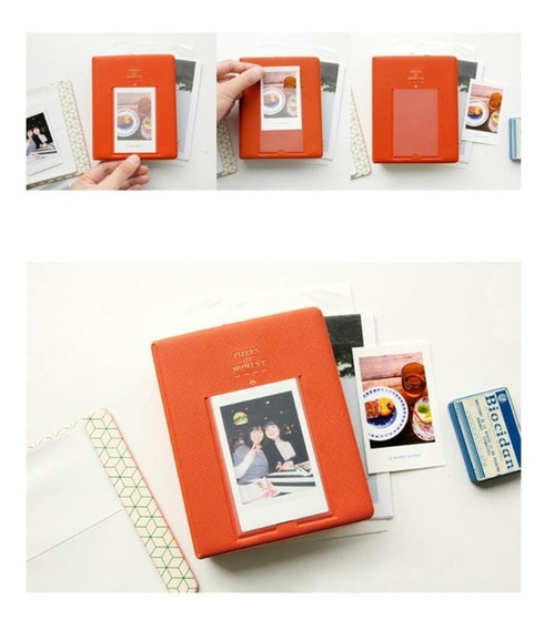 Álbum Para Fotos Da Instax Mini - 64 Fotos + 1 Na Capa