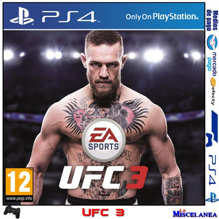 Ufc 3 Ps4 Digital | Cupo Principal