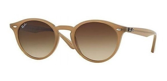 Lentes Gafas Sol Ray Ban Hombre Mujer Round 2180 616613 Nude