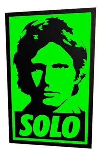 Cuadro Han Solo De Star Wars Decoración Premium Friki Hogar