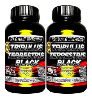 2 X Tribulus Terrestris Black 100% Extrato Com Saponinas