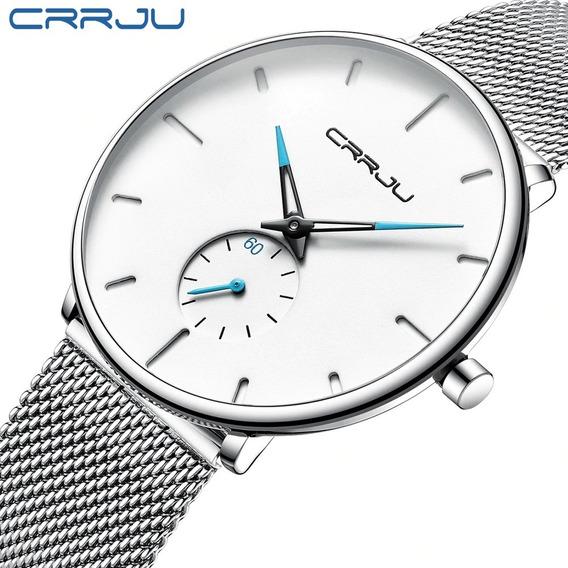 Relógio Ultra Fino De Luxo Unisex Masculino / Feminino