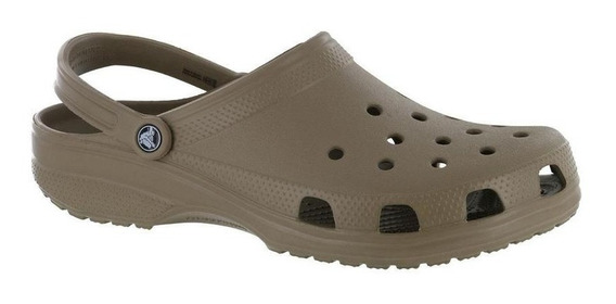 Sandália Crocs Classic Khaki Original + Nfe