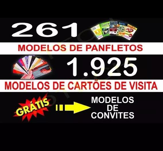 Panfletos Cartão D Visita Modelos Template Corel Draw+instal