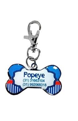 Pingente Personalizado P/ Cães Navy