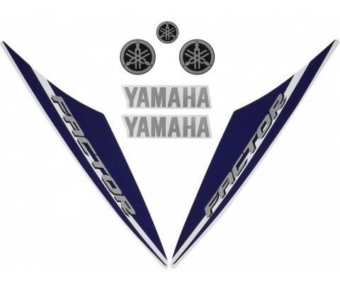 Kit De Adesivos Ybr 125 Factor 15/16 - Moto Cor Branca - 206