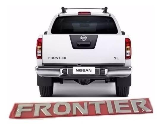 Emblema Nissan Frontier Tampa Traseira - Cromado