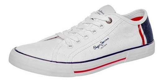 Tenis Hombre Pepe Jeans 8164 Ford Blanco Envio Gratis