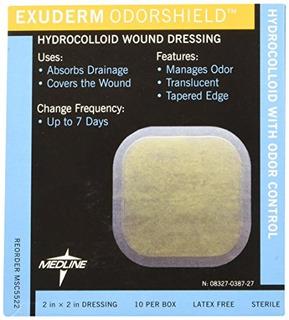 Medline Msc5522 Exuderm Odorshield Hydrocolloid, 2 X 2 (pack